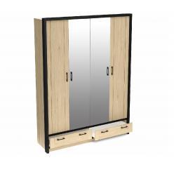 Бостон шкаф 4Д комбинированный